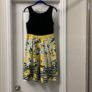 Chetta B Black Lemon Dress